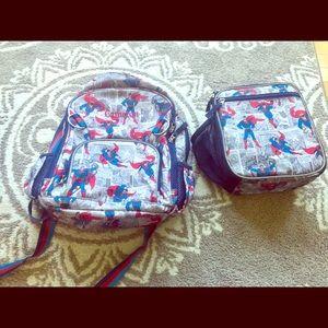 Pottery Barn Boys Superman Backpack/ Lunchbox